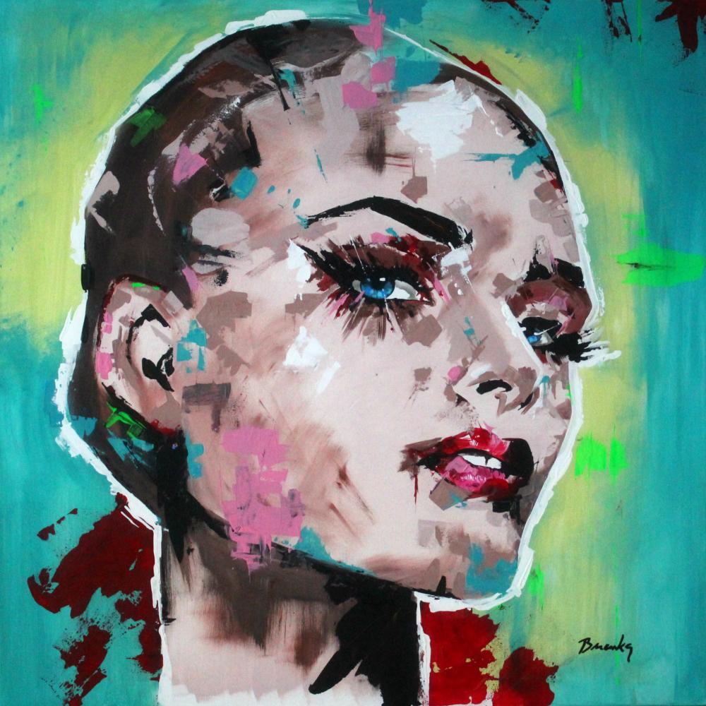 Freelove, Branka acrylic painting 100x100